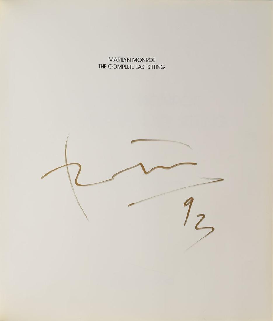 Bert Stern Signed Marilyn Monroe Book