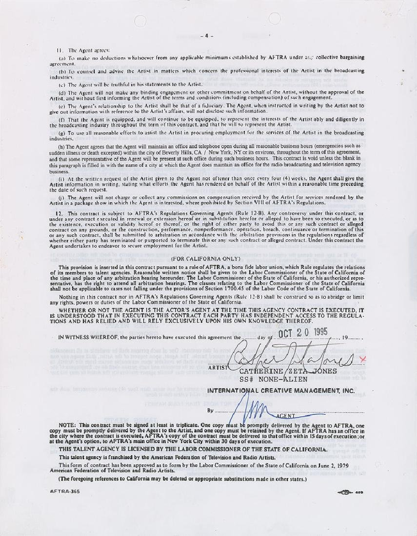 Actresses Set of (3) Signed Contracts