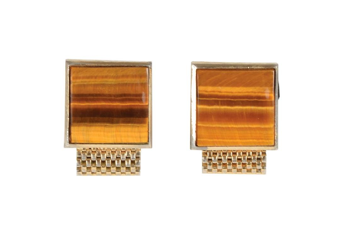 Elvis Presley's Tiger Eyes Cufflinks