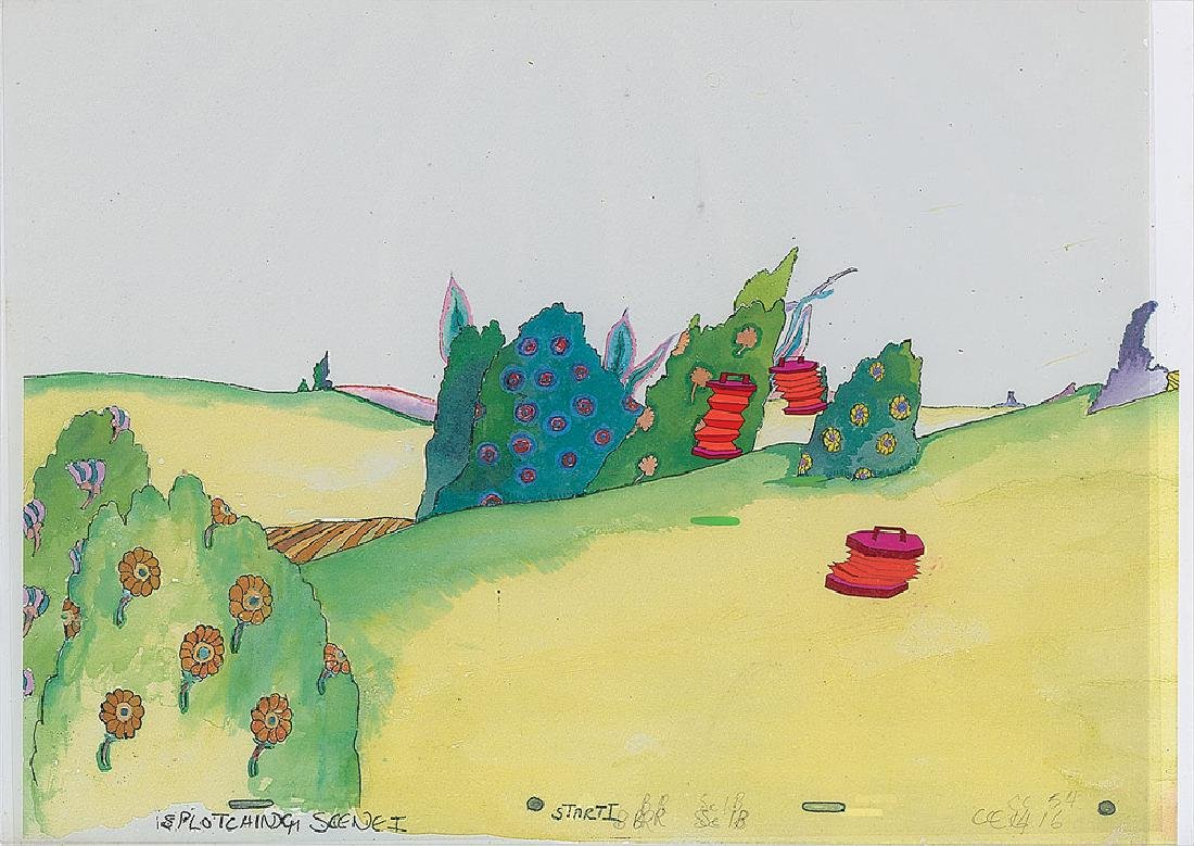 Production cels from Yellow Submarine