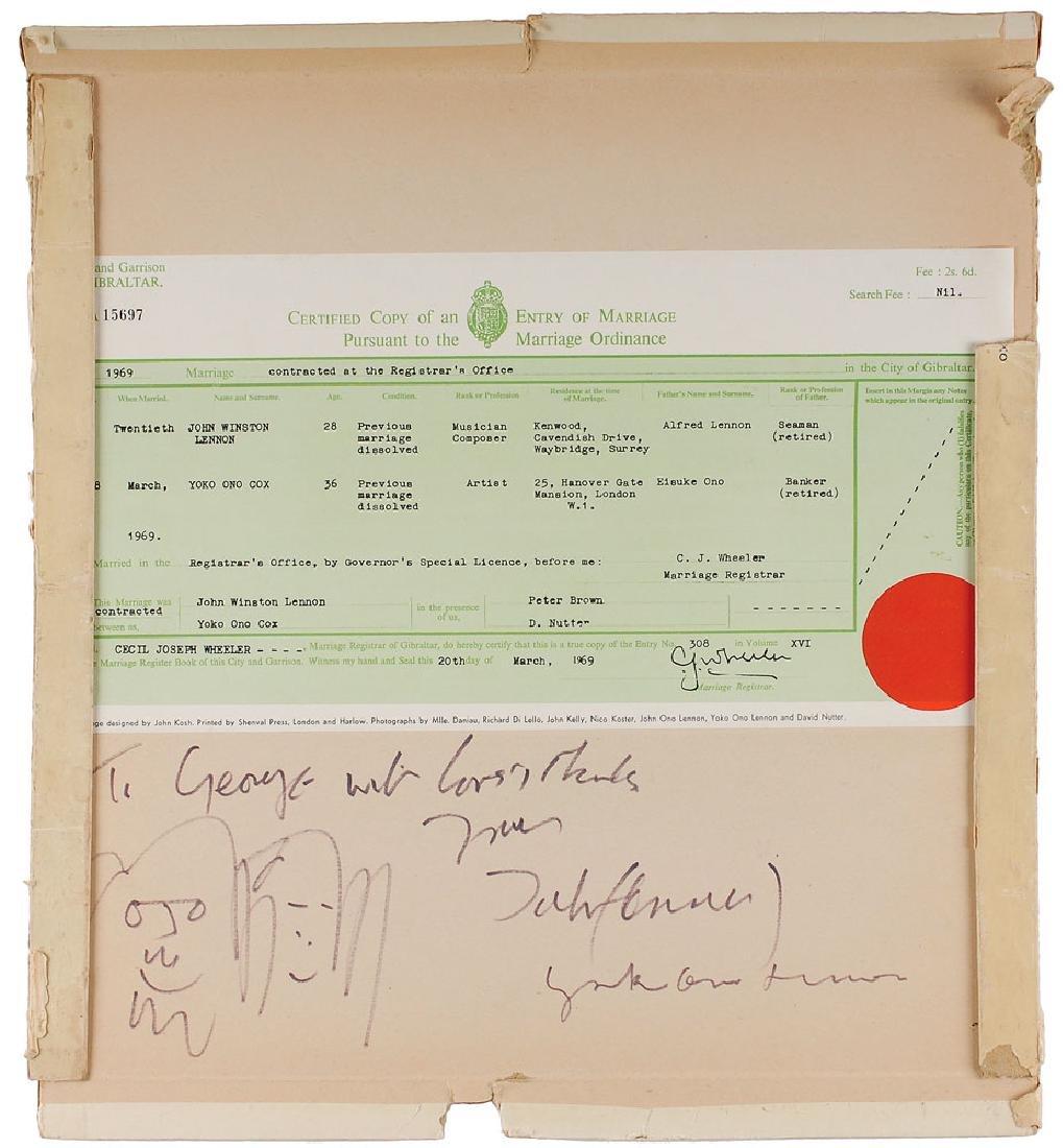 John Lennon and Yoko Ono Signed Album