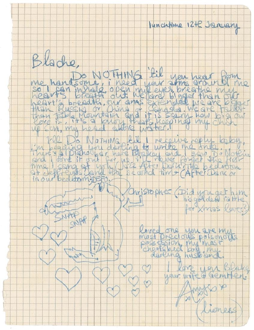 Amy Winehouse Autograph Letter Signed