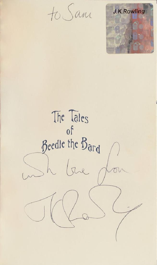 J. K. Rowling Signed 'The Tales of Beedle the Bard' Deluxe Book