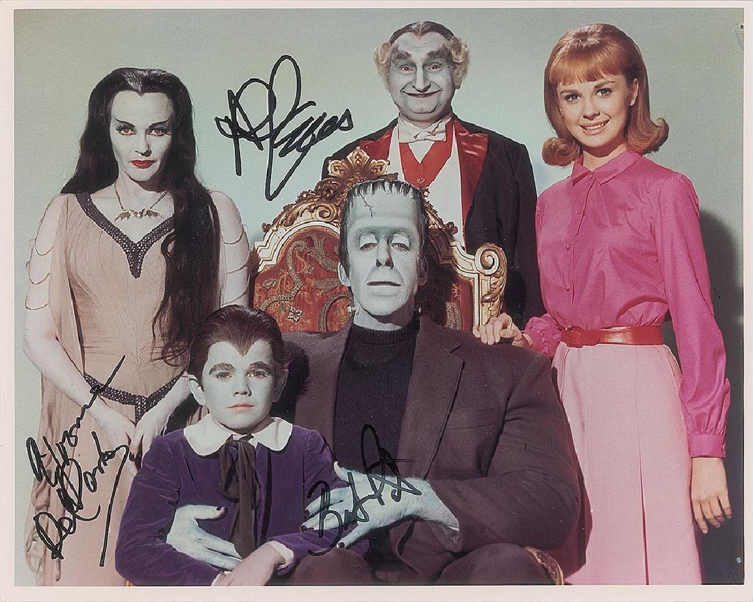 The Munsters Group of (5) Signed Photographs