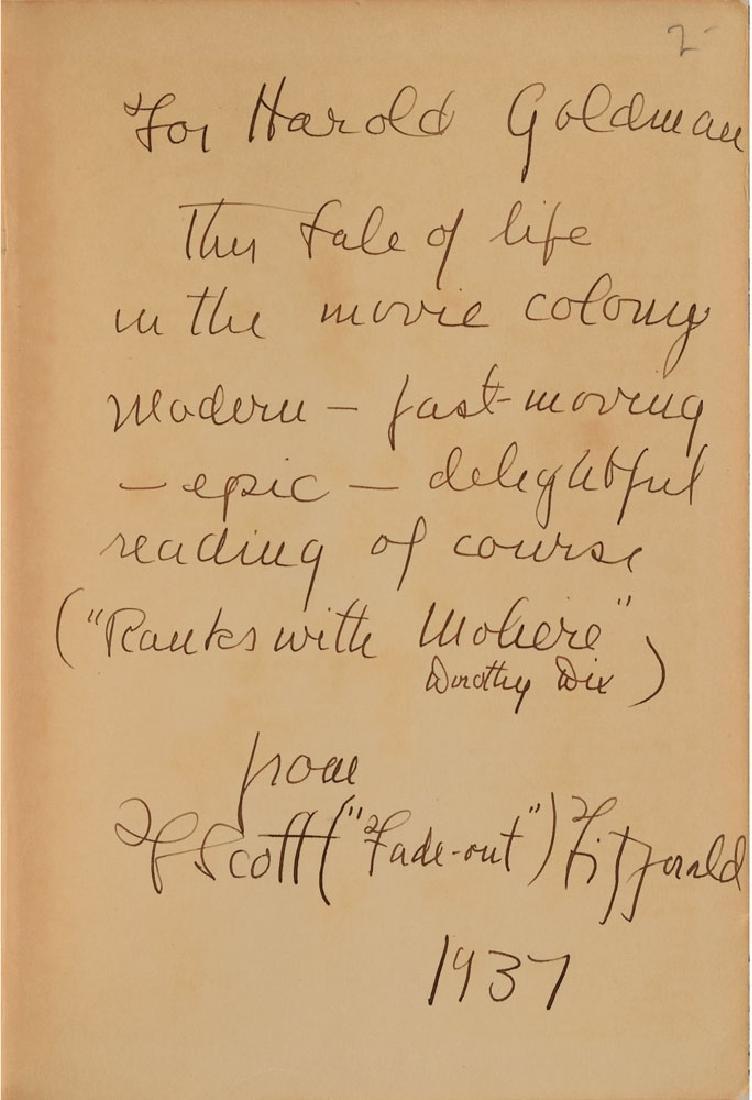 F. Scott Fitzgerald Signed Book
