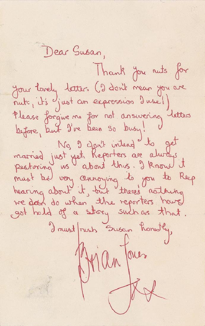 Rolling Stones Autograph Letters Signed