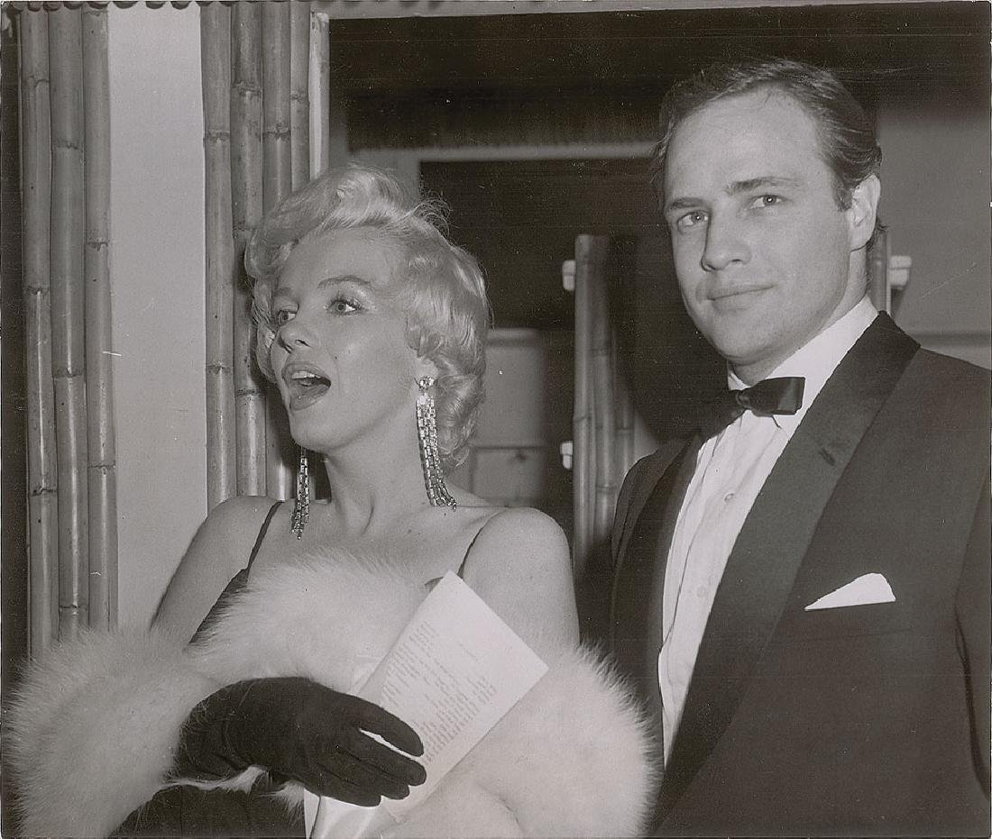 Marilyn Monroe and Marlon Brando Original Photograph