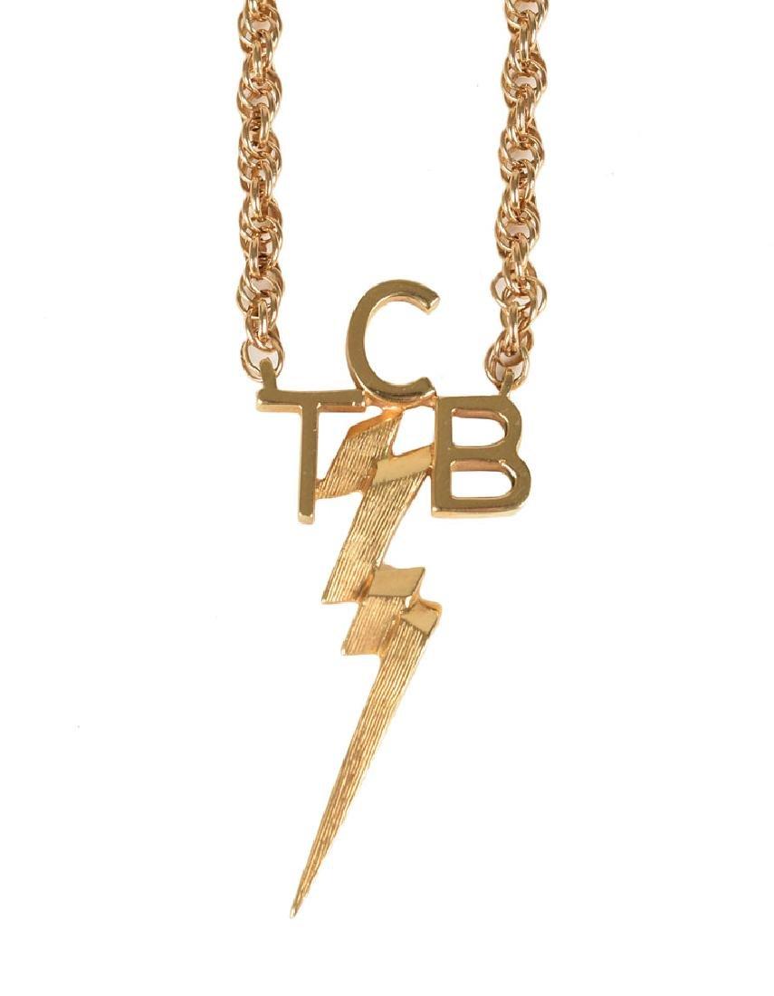Elvis Presley 14K Gold TCB Necklace