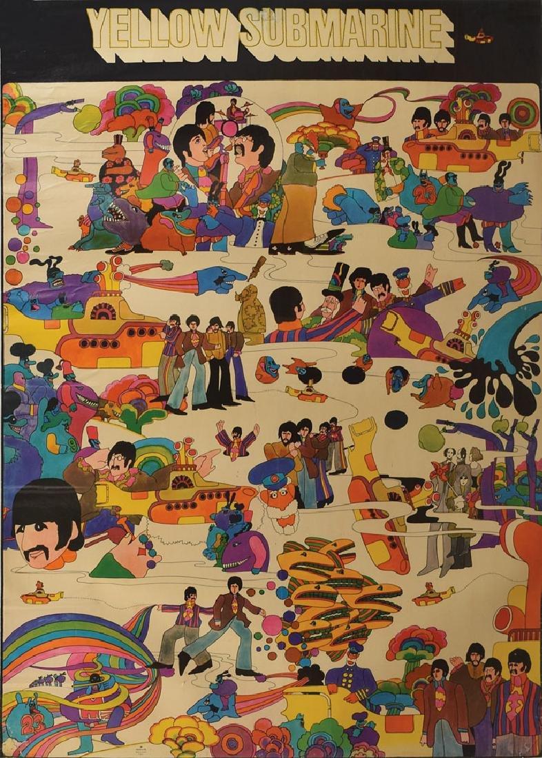 Beatles 1968 Yellow Submarine Poster