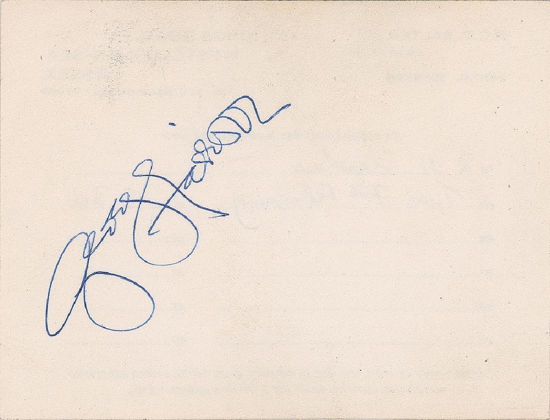 George Harrison 1975 Signature