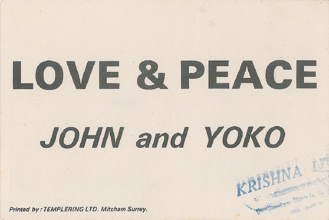 John Lennon and Yoko Ono 'Love & Peace' Flyer