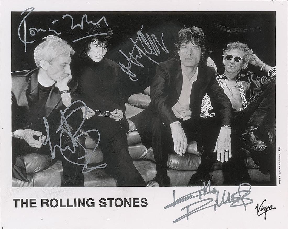 Rolling Stones Signed Photograph