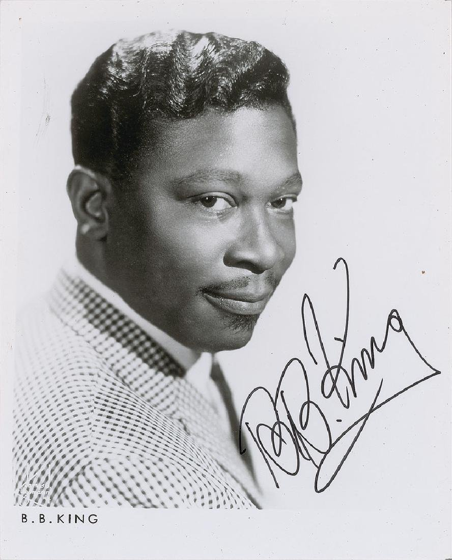B. B. King Signed Photograph