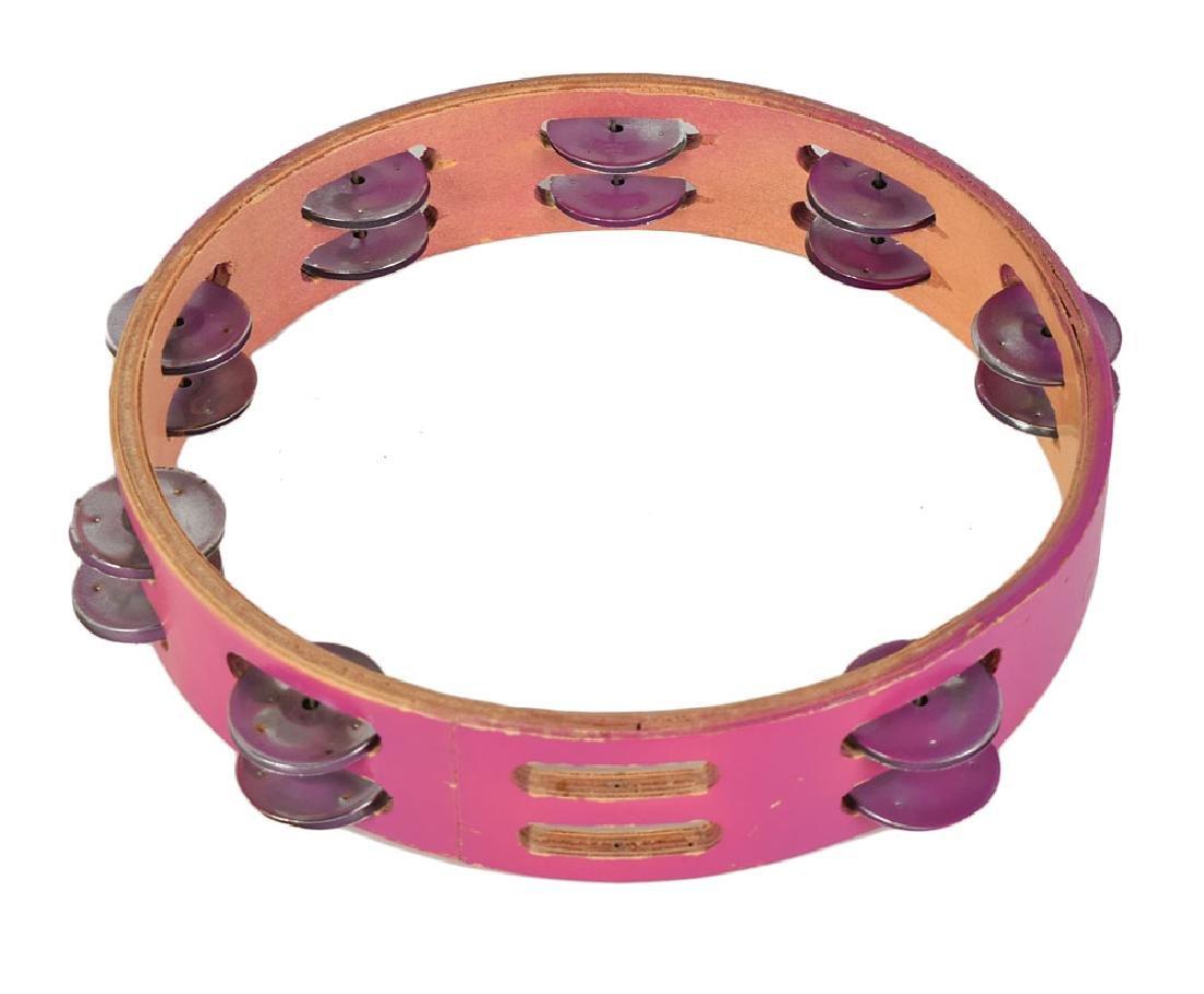 Prince's Stage-Used Purple Tambourine