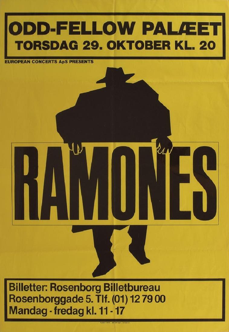 Ramones 'Odd-Fellow' 1981 Concert Poster