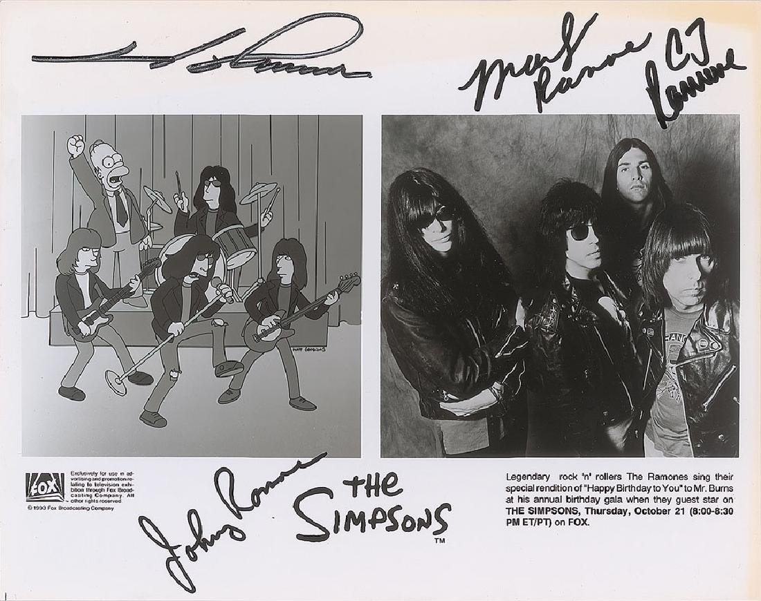 """Ramones """"The Simpsons"""" Signed Photograph"""