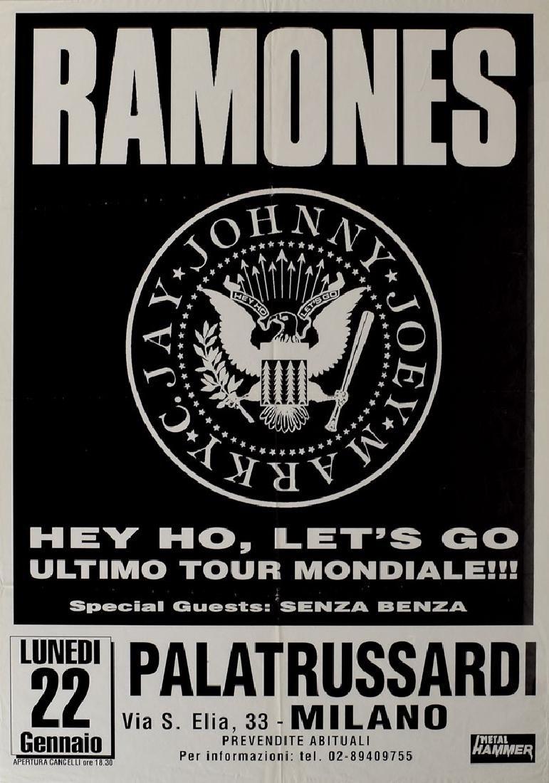 Ramones Milan Concert Poster