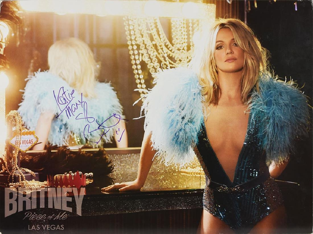 Britney Spears Signed Poster