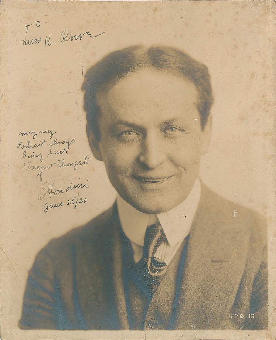 Harry Houdini Signed Photograph
