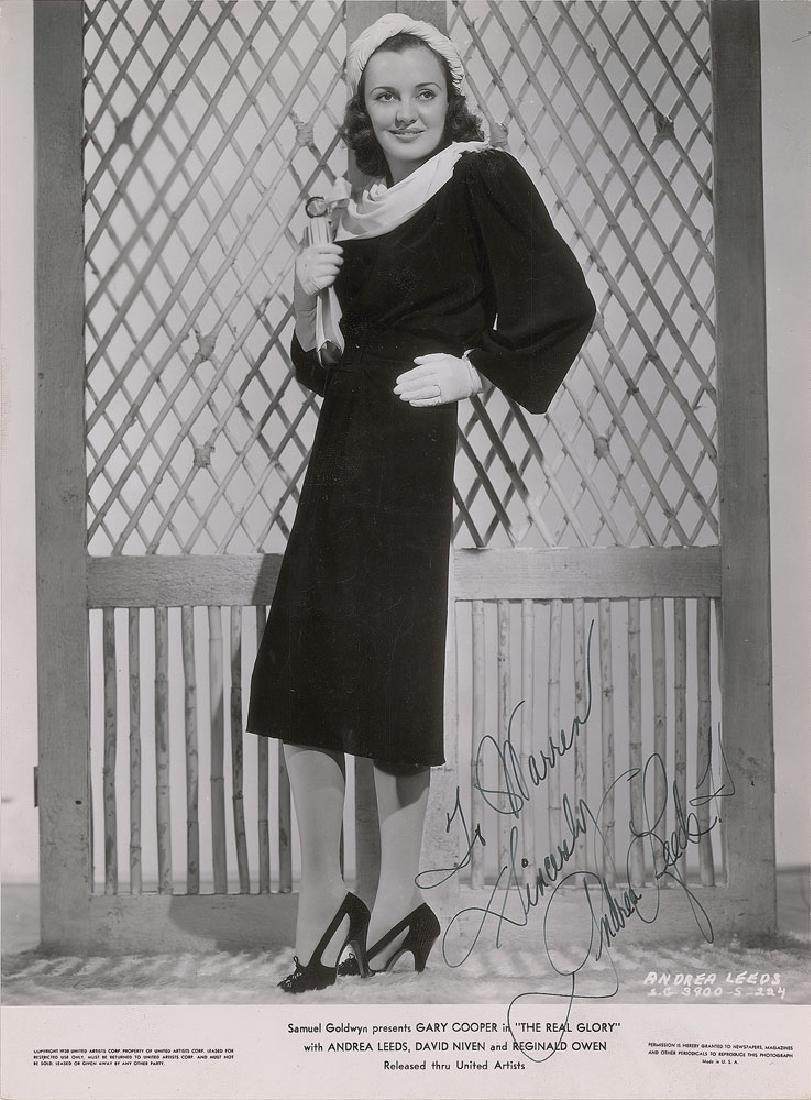 Andrea Leeds Signed Photograph