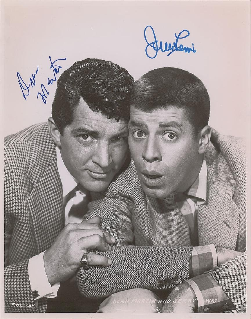 Dean Martin and Jerry Lewis Signed Photograph