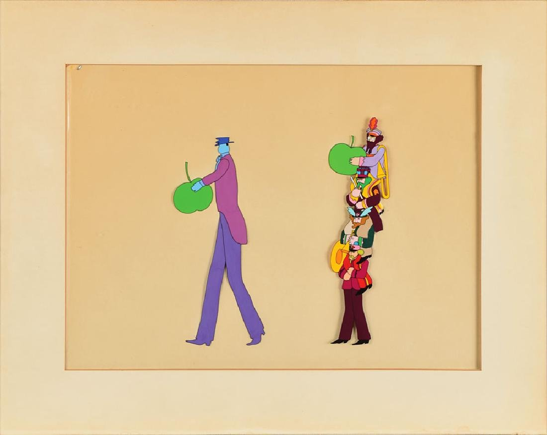 John, Paul, George, and Ringo production cel from Yellow Submarine