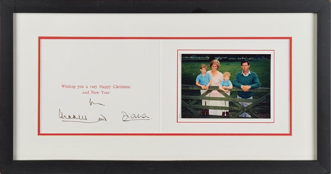 Princess Diana and Prince Charles Signed Card