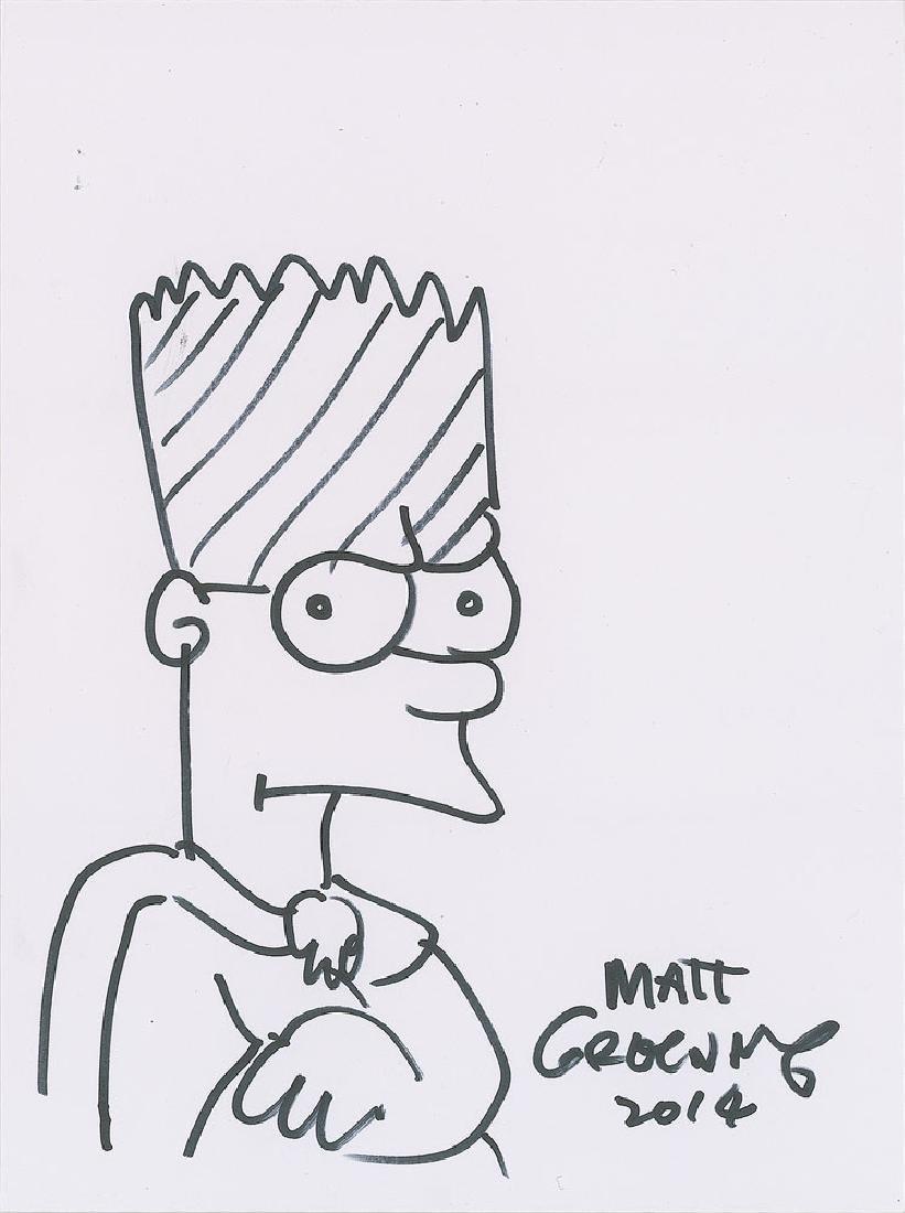 Matt Groening Signed Sketch