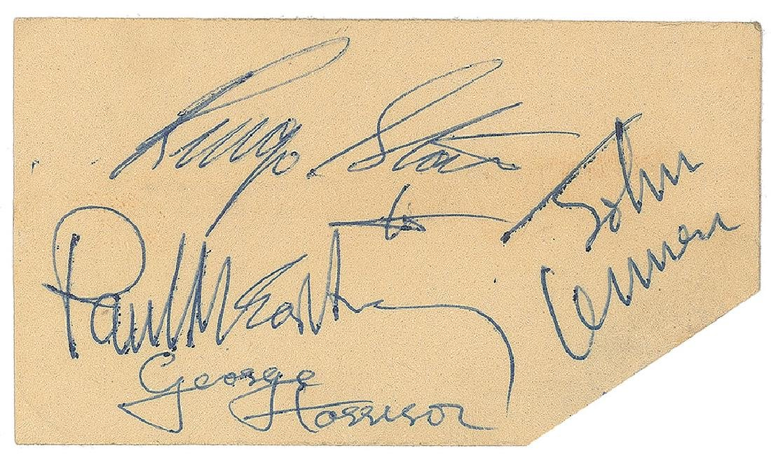 George Harrison and Ringo Starr Signatures