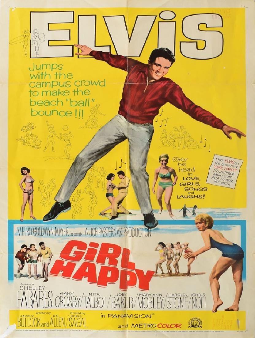Elvis Presley Girl Happy Poster