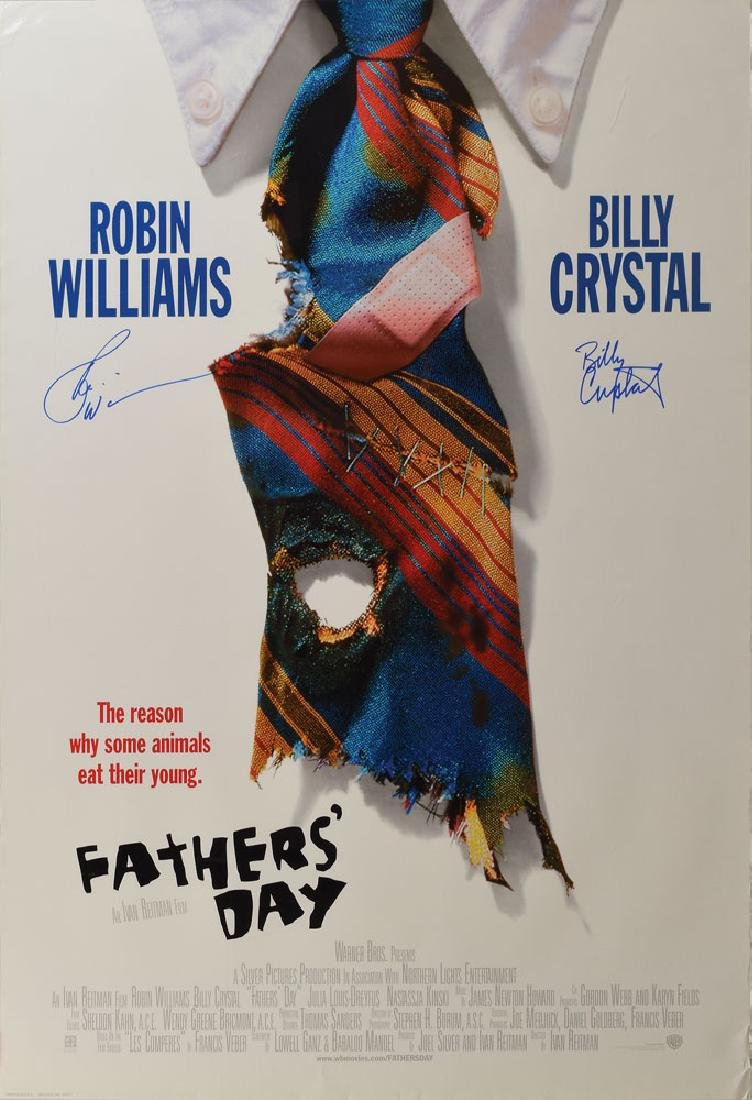 Robin Williams and Billy Crystal Signed Poster
