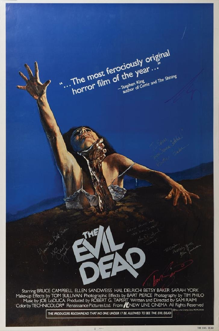 The Evil Dead Cast Signed Poster