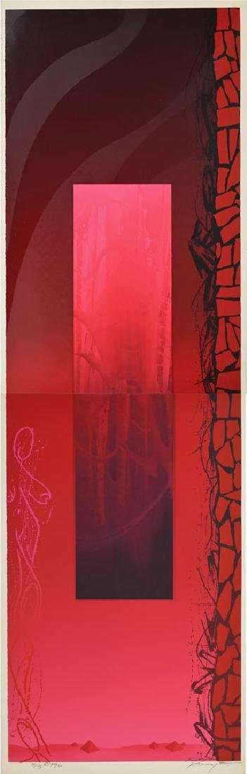 Peyton Scott Russell 'Red Wine' Screenprint Diptych