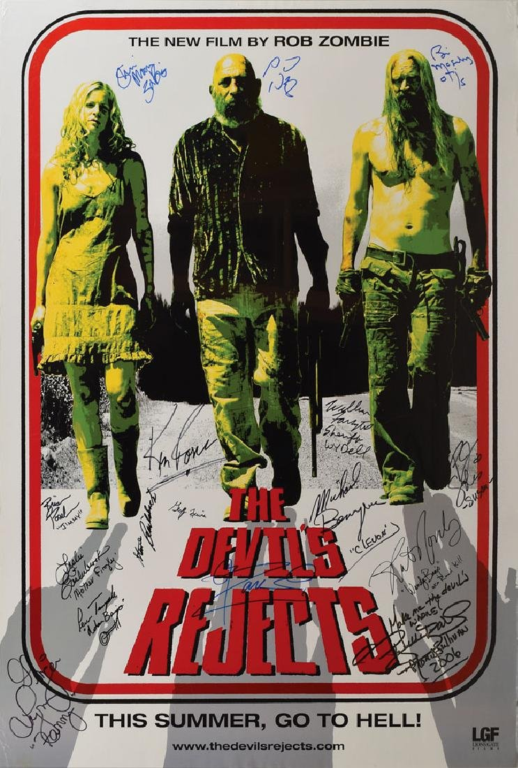 The Devil's Rejects Cast Signed Poster