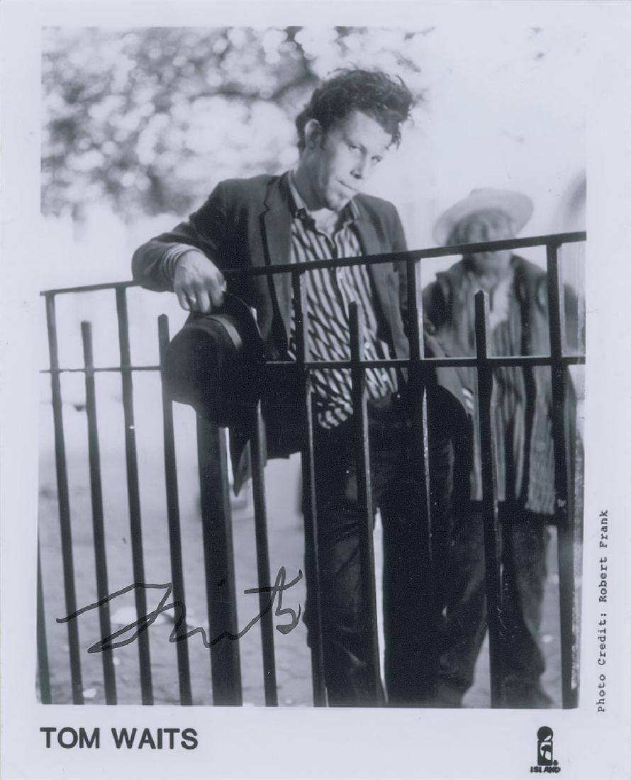 Tom Waits Signed Photograph