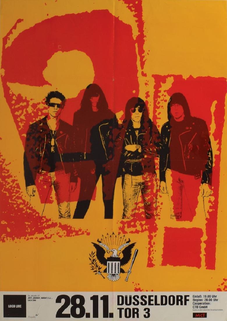 Ramones 'Duesseldorf' 1991 Concert Poster