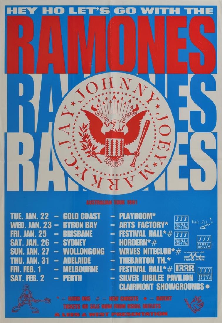 Ramones Australia 1991 Concert Poster