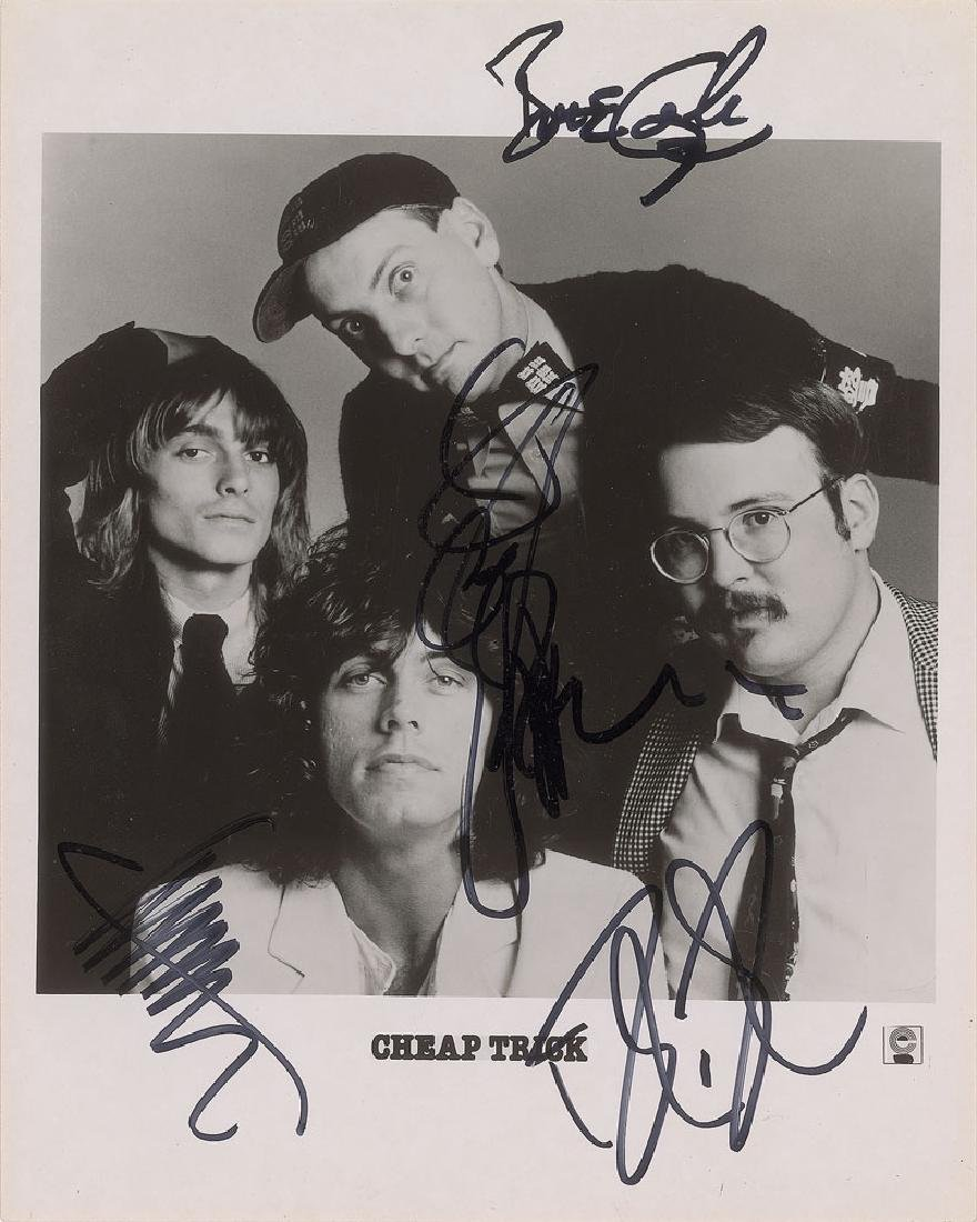 Cheap Trick Signed Photograph