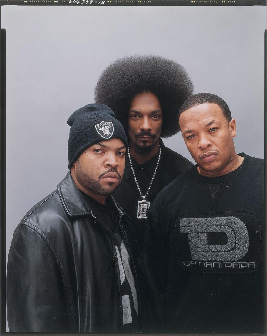 Snoop Dogg, Ice Cube, and Dr. Dre Original Photograph