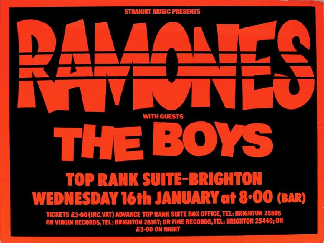 Ramones 1980 Concert Poster