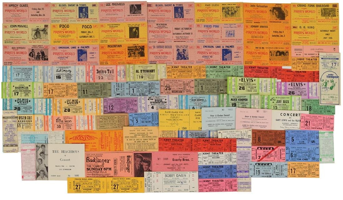 Collection of Rock Concert Tickets