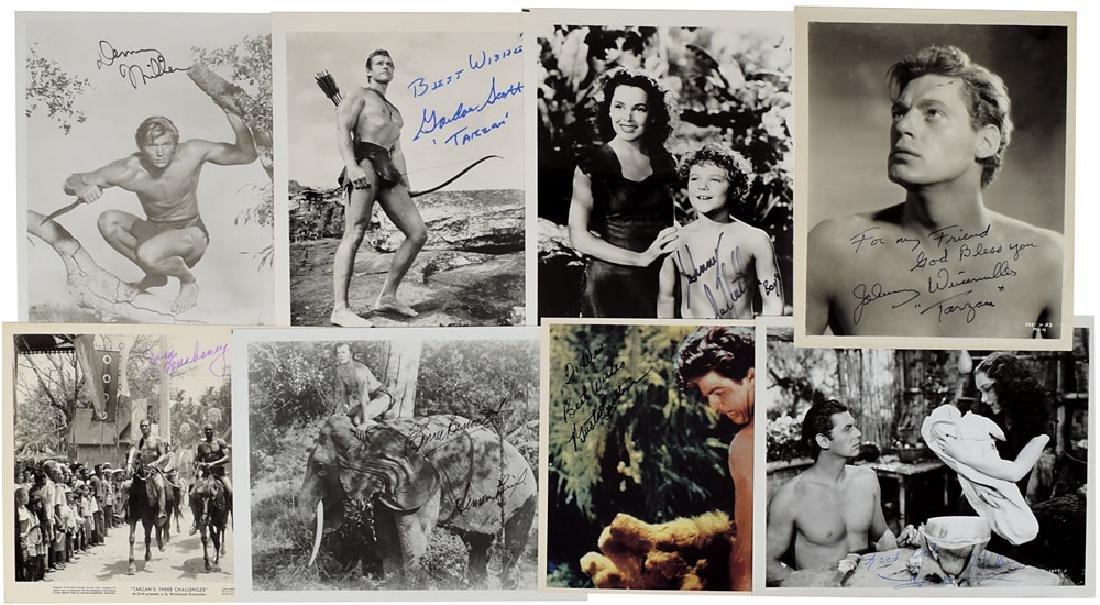 Tarzan Group of (8) Signed Photographs