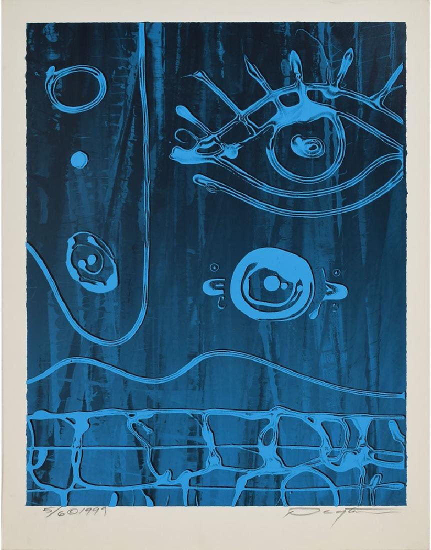 Peyton Scott Russell 'Blue Faceland' Screenprint