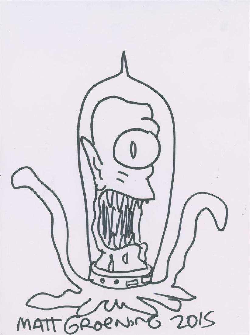 Matt Groening Signed Sketch