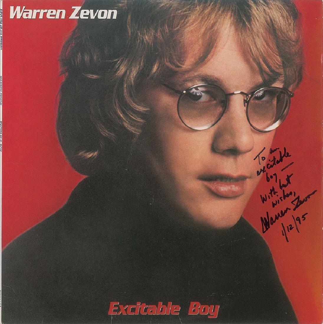 Warren Zevon Signed Album