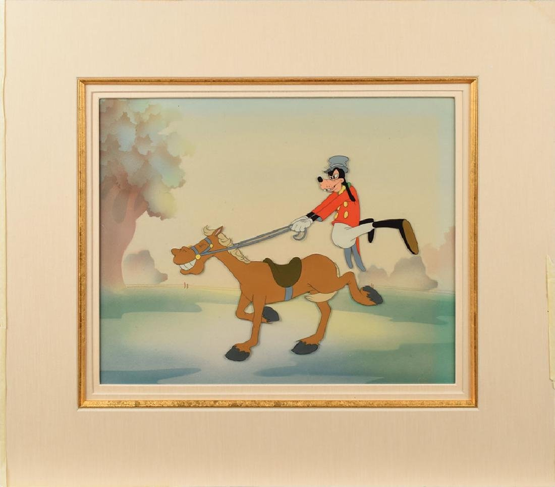 Goofy and Horse production cel from The Reluctant Dragon