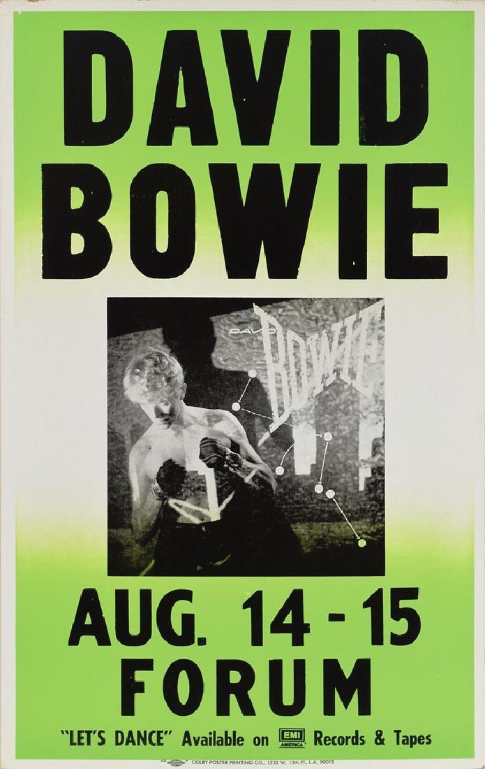 David Bowie 1983 LA Forum Concert Poster
