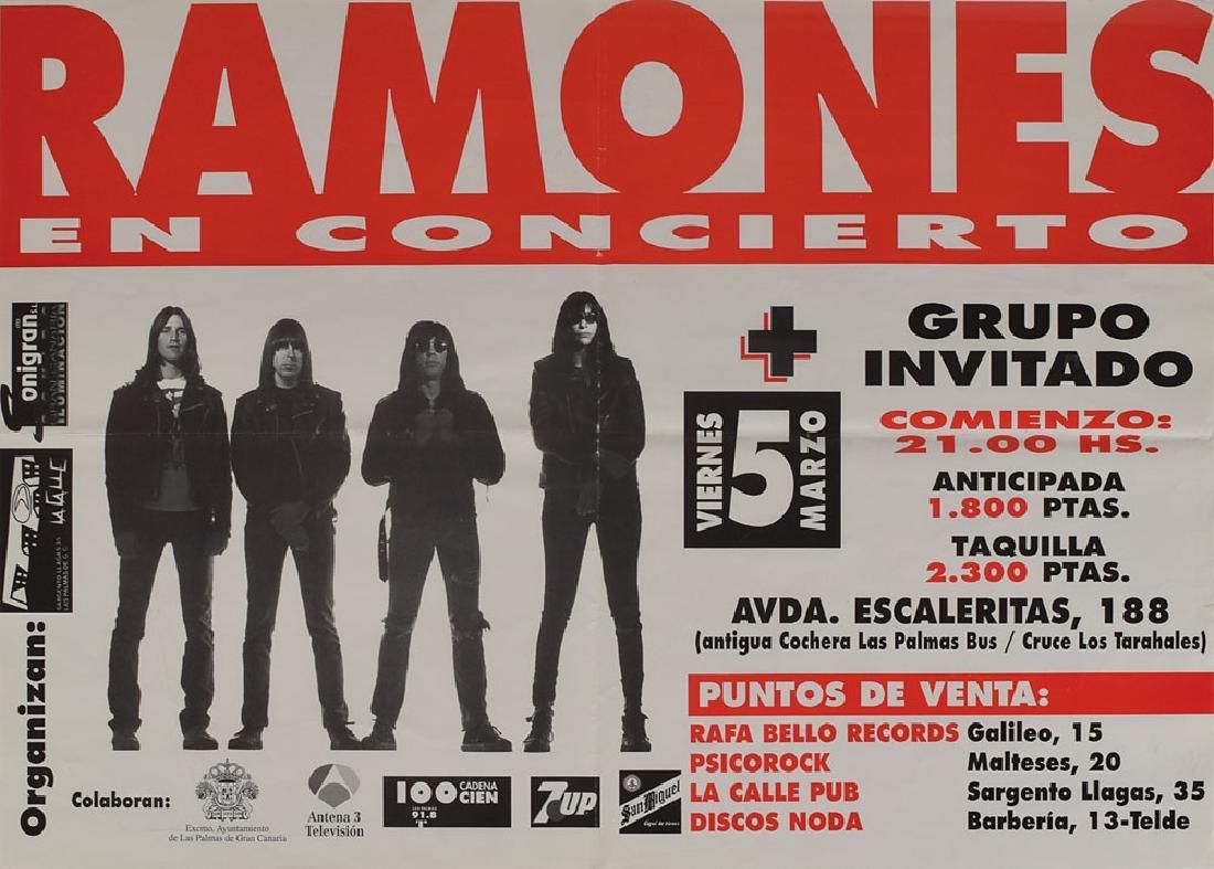 Ramones Spain 1993 Concert Poster