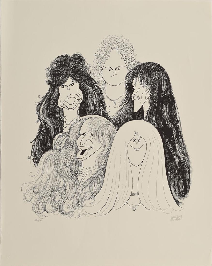 Al Hirschfeld Signed Aerosmith Print