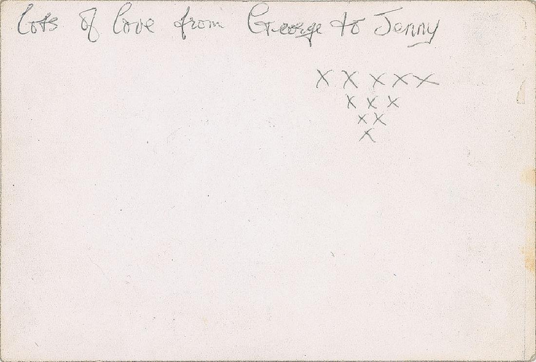 George Harrison Signed Beatles Promo Card